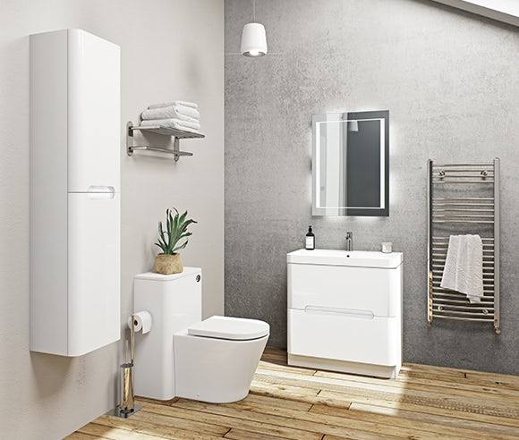 Ellis white bathroom furniture