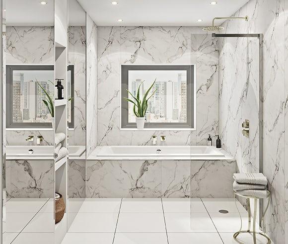 Multipanel Linda Barker shower wall panels