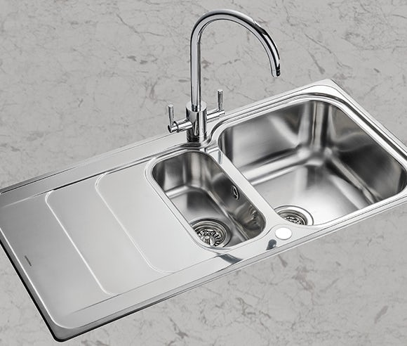 Up to 20% off selected kitchen sinks and taps