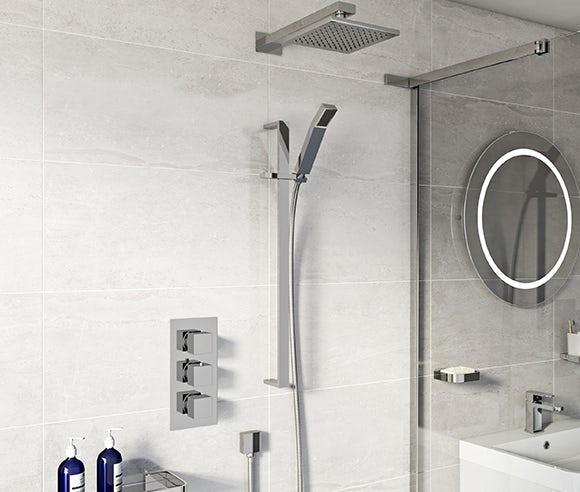Concealed mixer showers
