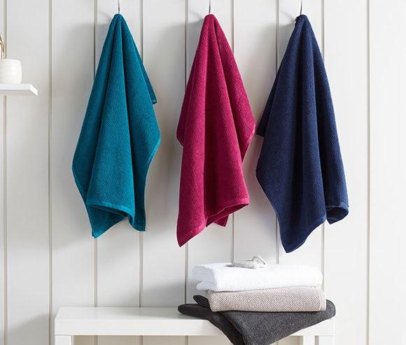 Bath mats and towels