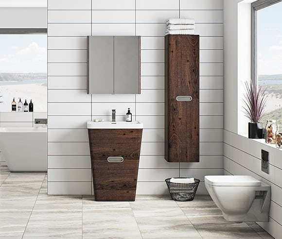 Sherwood chestnut bathroom furniture