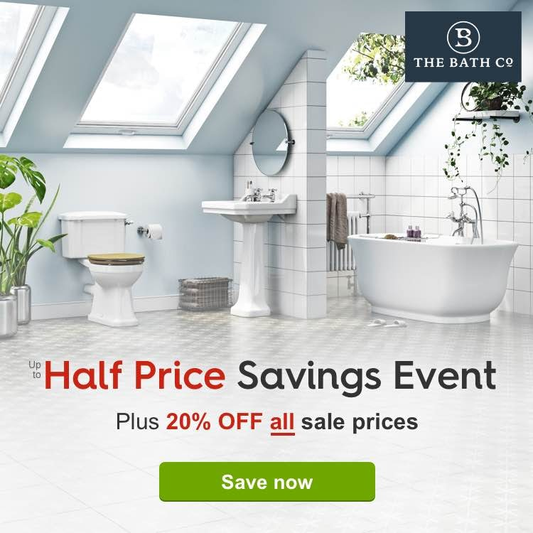 The up to Half Price Savings Event PLUS 20% off all sale prices