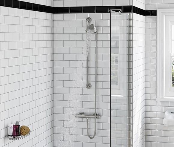 Slider rail mixer showers