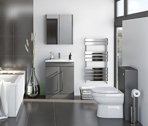 Derwent stone grey bathroom furniture