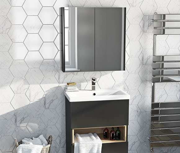 Free mirror with selected vanity units