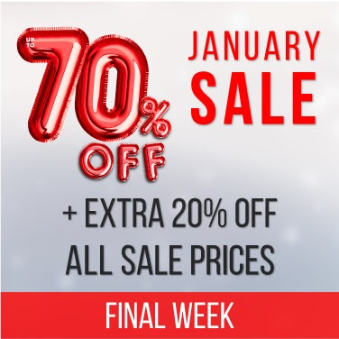 Up to 70% off January Sale PLUS an extra 20% off all sale prices