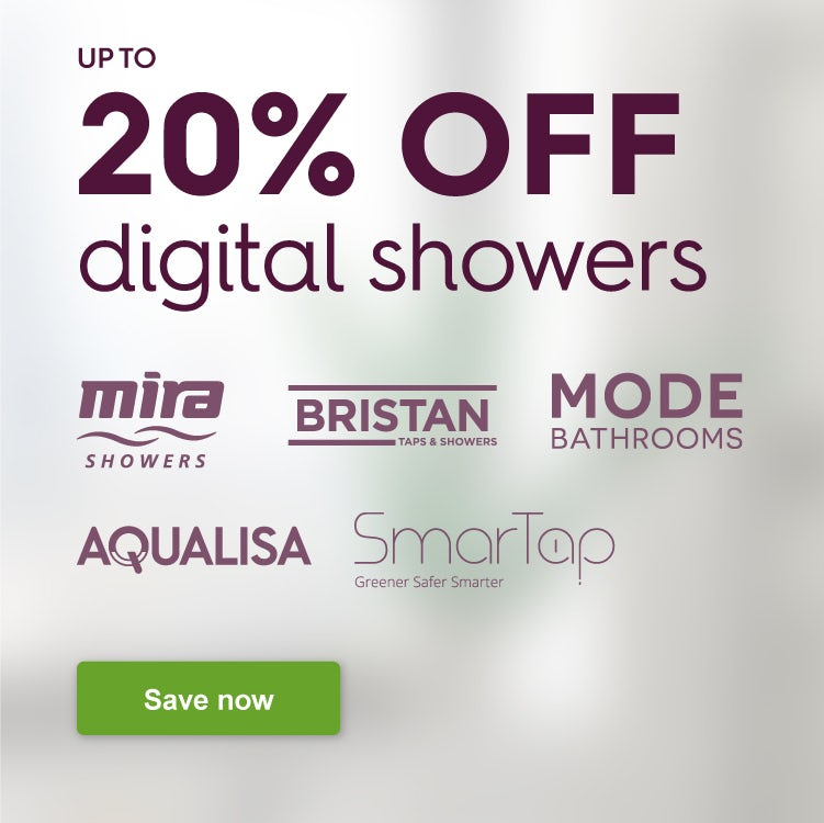 Up to 20% off digital showers