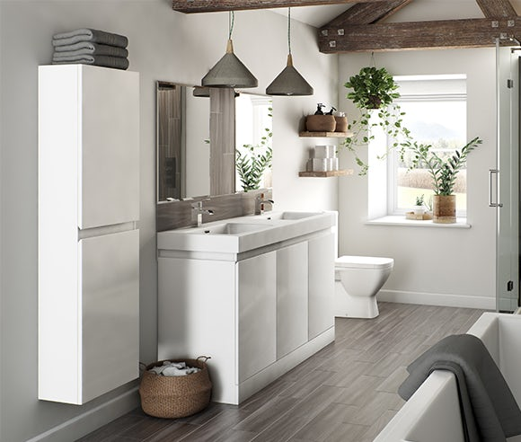 Hardy white bathroom furniture