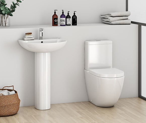 Extra 15% off complete toilet and basin suites