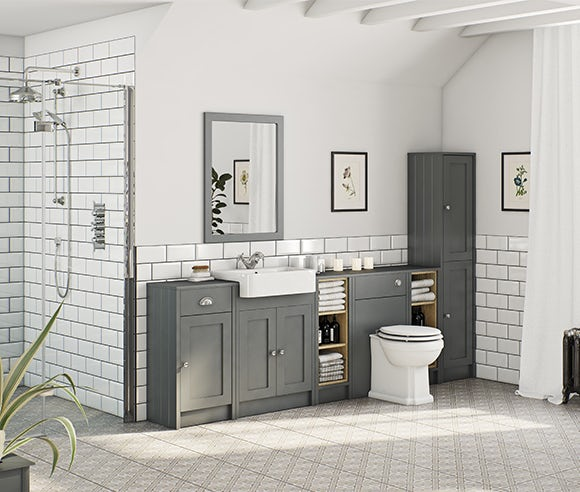 Dulwich stone grey bathroom furniture