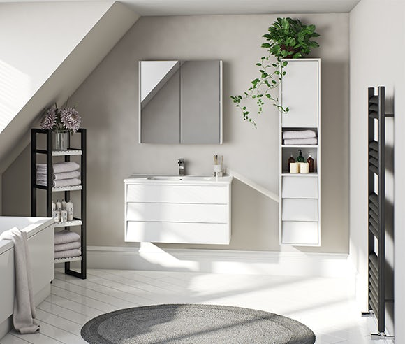 Cooper white bathroom furniture