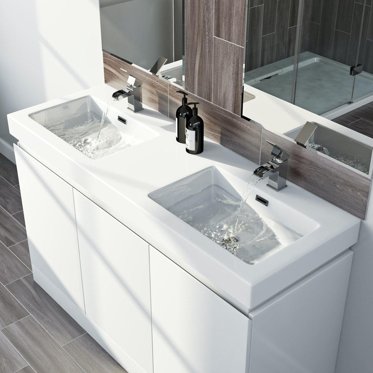 Bathroom Vanity Units With Sink. Double Basin Vanity Units Bathroom Vanity  Units With Basins VictoriaPlum
