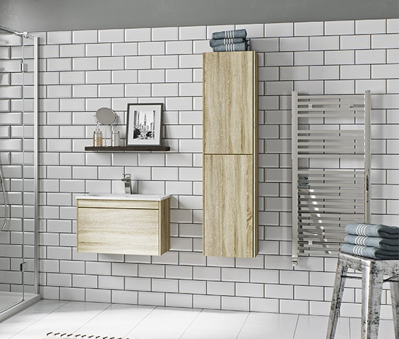 Austin oak bathroom furniture