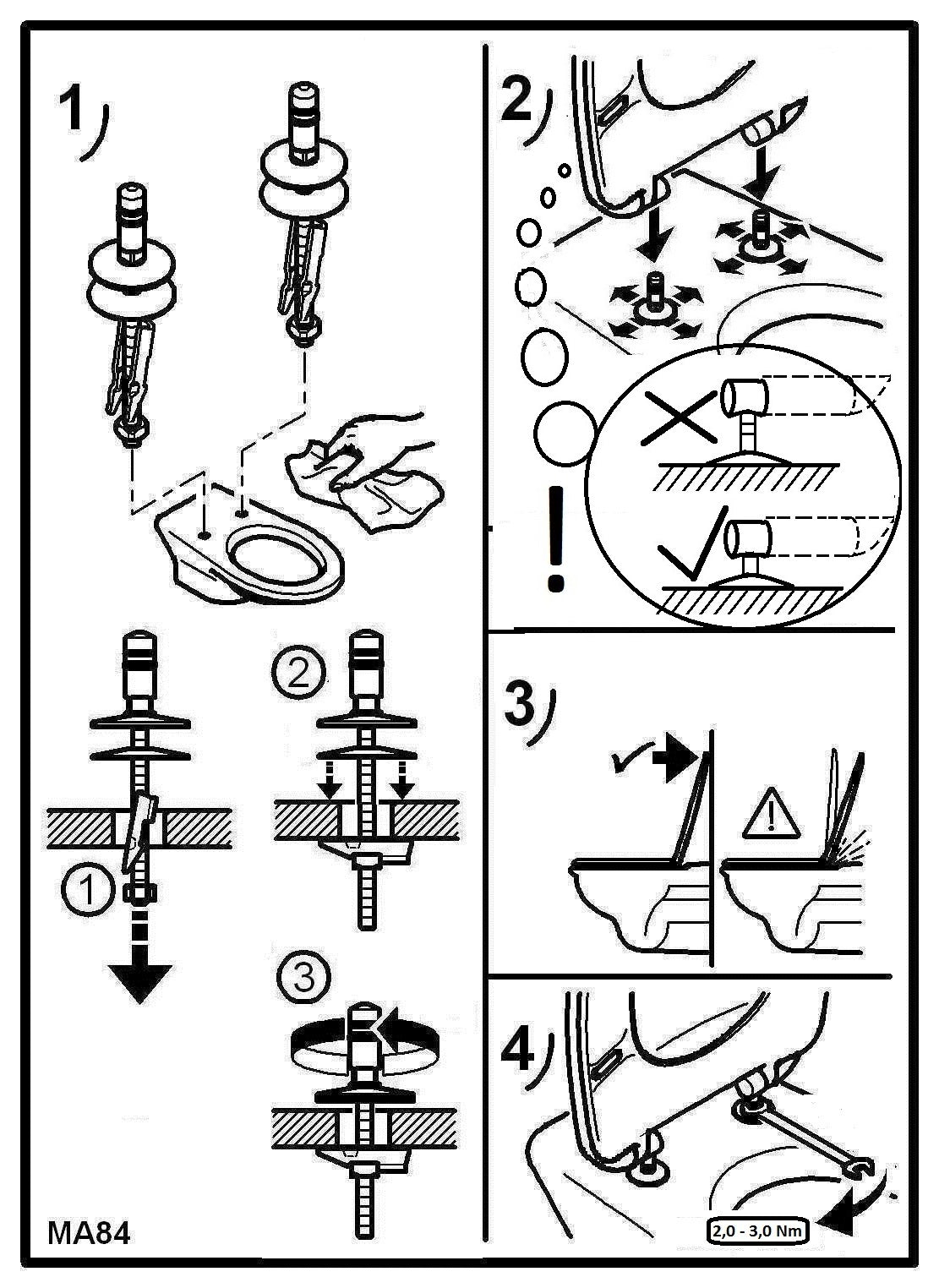 pressalit toilet seat fitting instructions