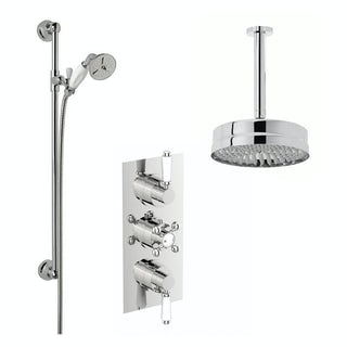 Antonio Thermostatic Ceiling Shower & Slide Rail Set