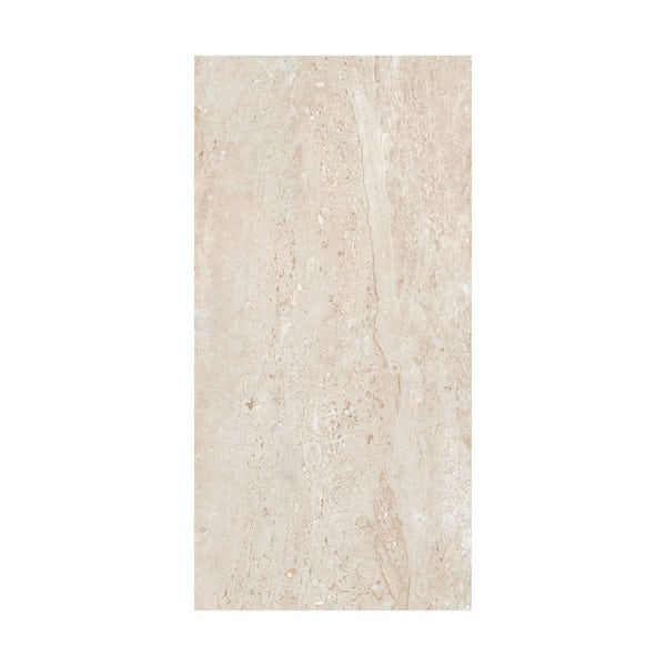British Ceramic Tile Lux beige gloss tile 298mm x 598mm