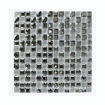 Mosaic glisten black gloss tile 300mm x 300mm - 1 sheet