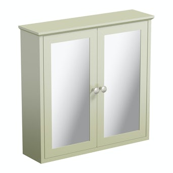 Camberley Sage Wall Hung Mirror Cabinet