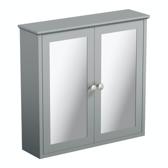 Camberley Grey Wall Hung Mirror Cabinet
