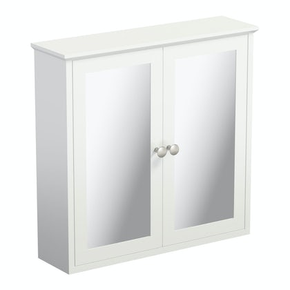 The Bath Co. Camberley white wall hung mirror cabinet