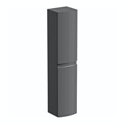 Curvaceous slate wall hung storage cabinet