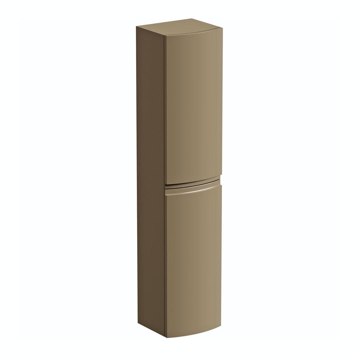 Mode Harrison mocha wall hung storage cabinet