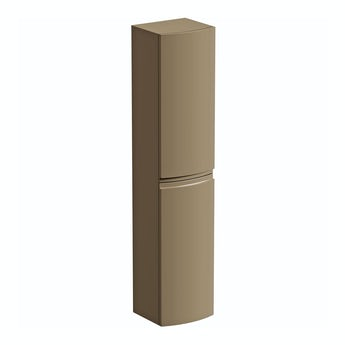 Mode Curvaceous mocha wall hung storage cabinet