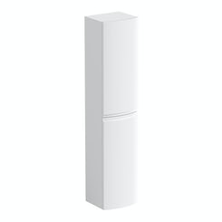 Curvaceous snow wall hung storage cabinet