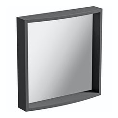 Curvaceous slate bathroom mirror