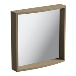 Curvaceous Latte bathroom mirror
