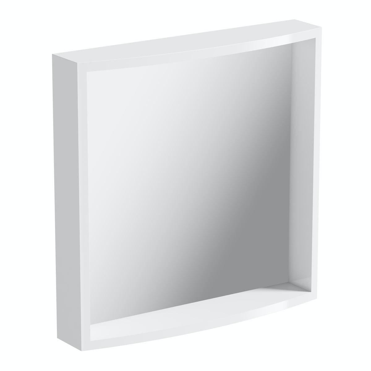 Mode Harrison snow bathroom mirror