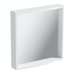 Curvaceous Snow bathroom mirror offer pack