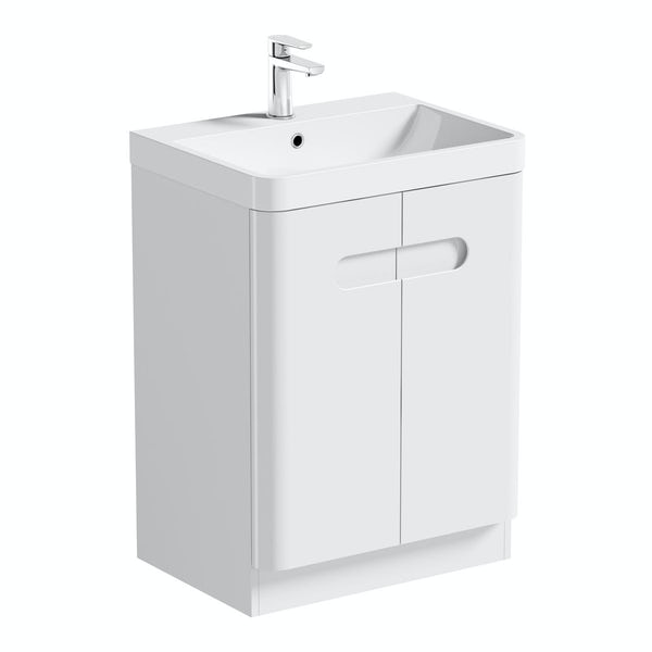 Mode Ellis white vanity door unit 600mm and mirror offer