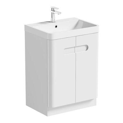 Mode Ellis white vanity door unit and basin 600mm