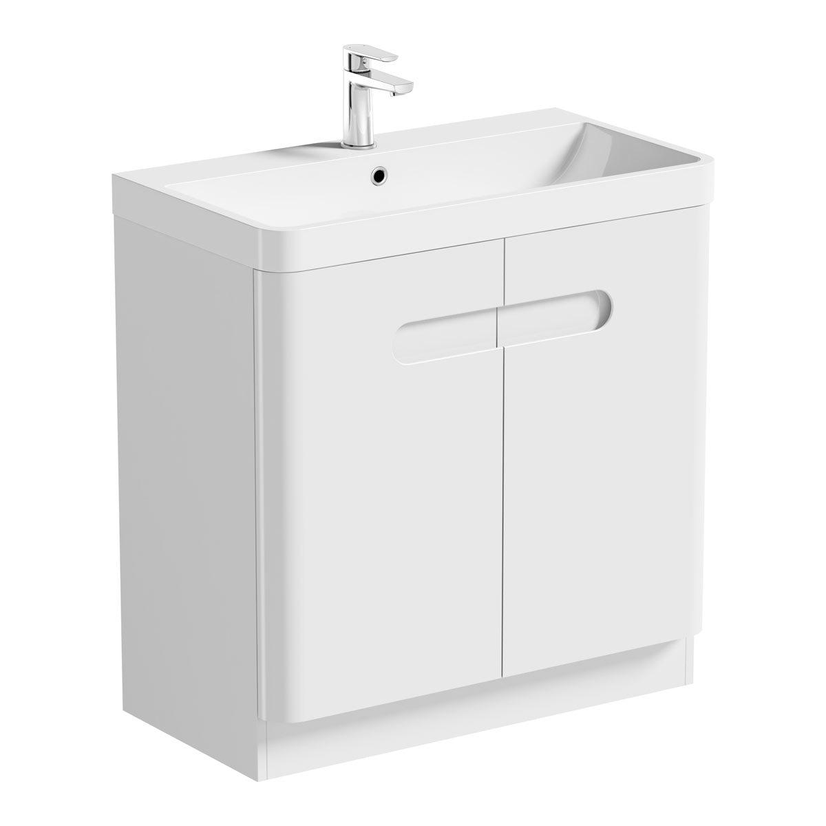 Mode Ellis white vanity door unit and basin 800mm