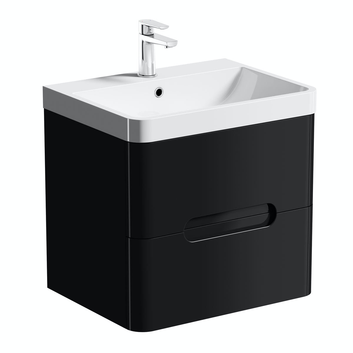 mode planet black wall hung vanity drawer unit and basin mm  - priced to clear planet black  wall drawer unit  basin