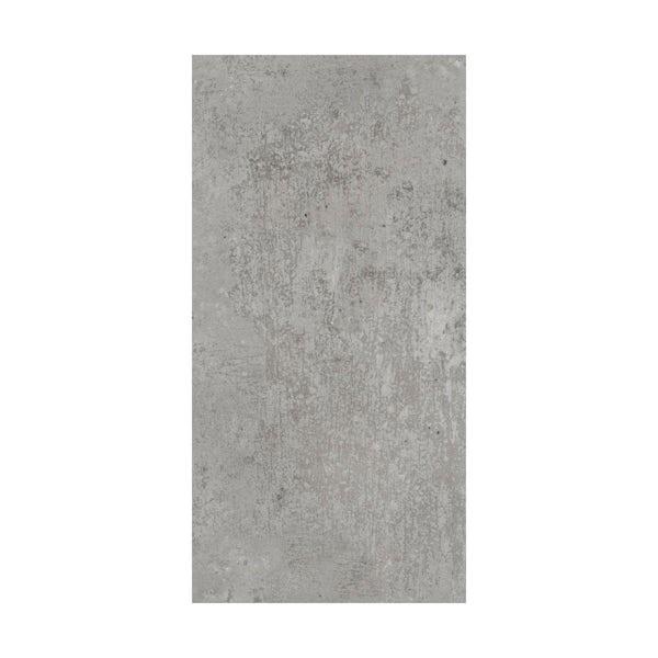 British Ceramic Tile Metropolis mid grey matt tile 248mm x 498mm