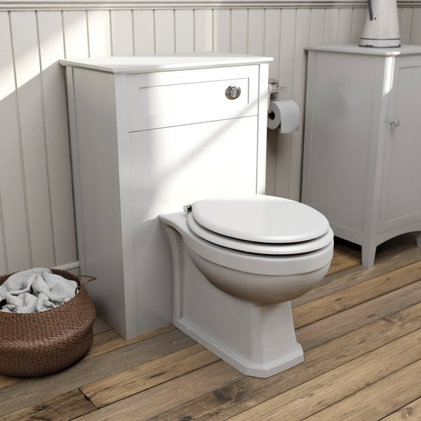 The Bath Co. Camberley white back to wall toilet unit