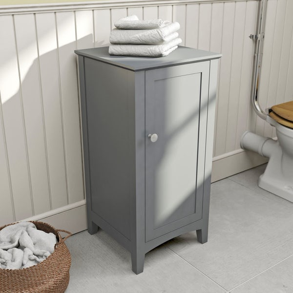The Bath Co. Camberley satin grey storage unit
