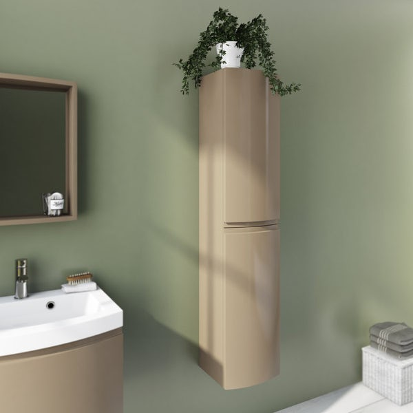 Harrison Latte Wall Hung Cabinet