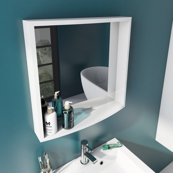 Harrison White Floor Unit and Mirror Offer