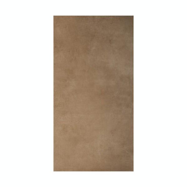 British Ceramic Tile Canvas toffee beige matt tile 298mm x 598mm