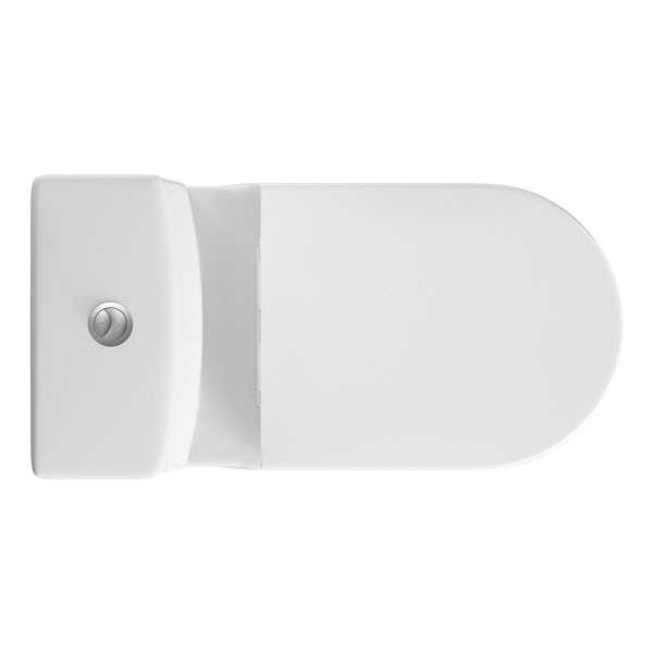Tate Close Coupled Toilet inc. Quick Release Soft Close Seat