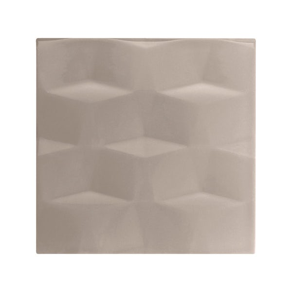 cut out of square putty studio conran tile with facet design