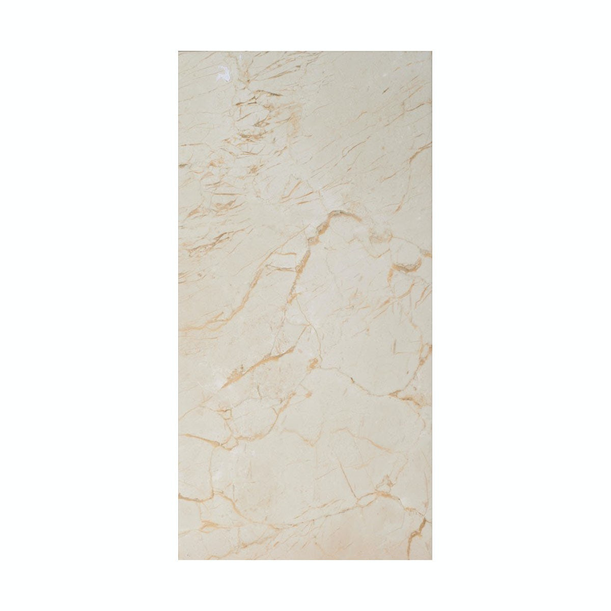 cut out of rectangular praline gloss tile with marble effect