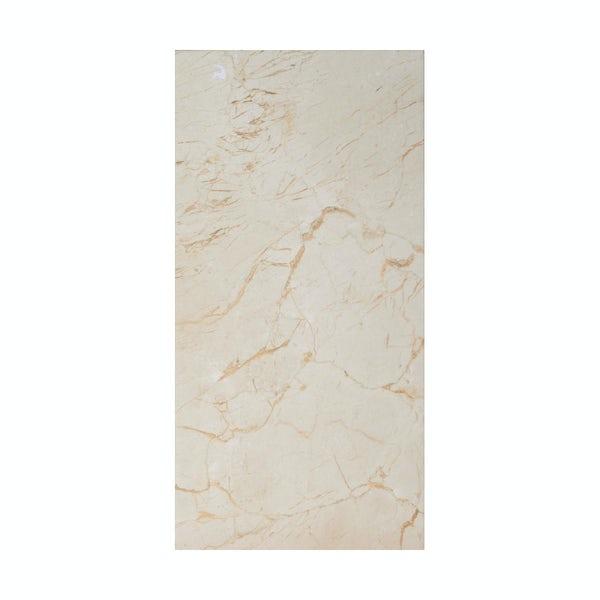 British Ceramic Tile Praline gloss tile 248mm x 498mm