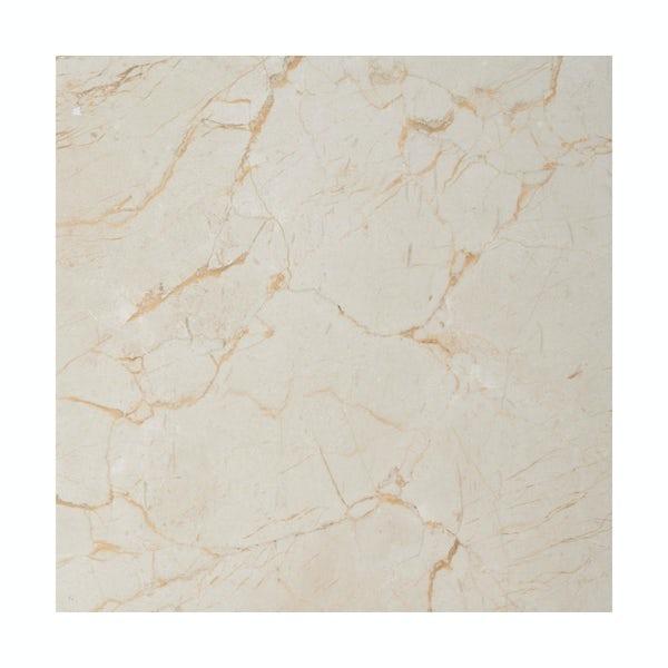 British Ceramic Tile Praline gloss tile 331mm x 331mm
