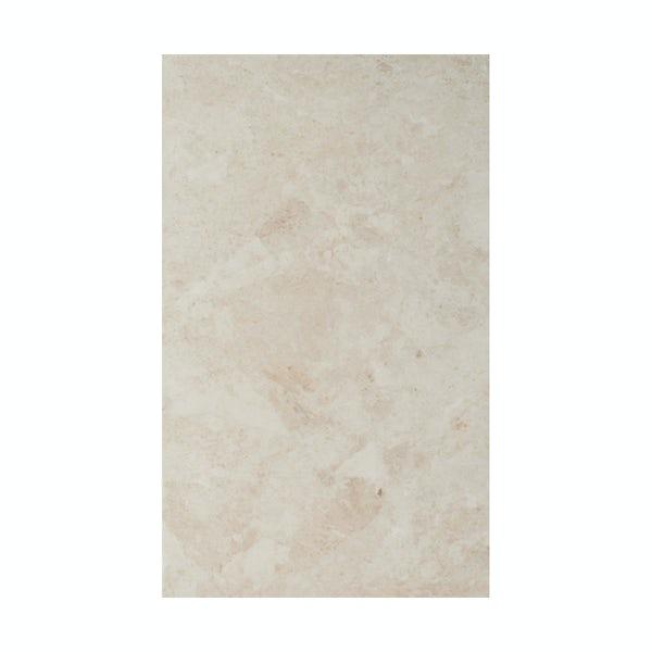 British Ceramic Tile Face light beige matt tile 298mm x 498mm