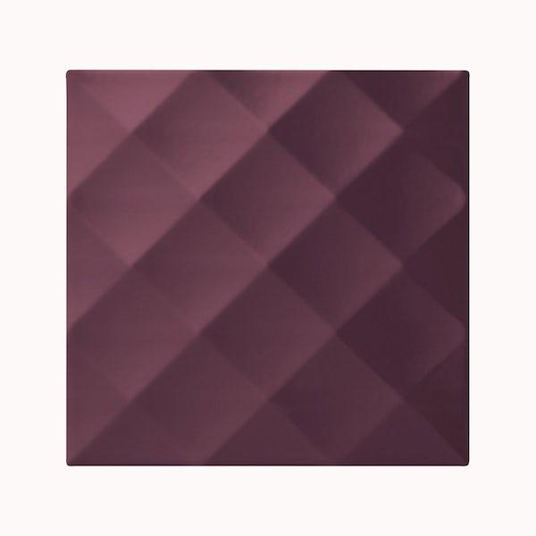 cut out of square plum studio conran tile with ridge design